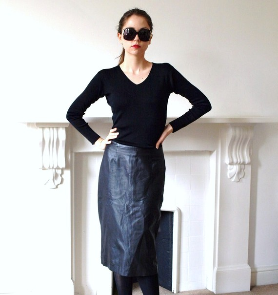 Penny Dreadful Vintage Leather skirt