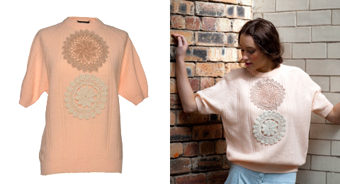 Antiform jumper peach doilie roll Tuesday Treats   Textured Layers