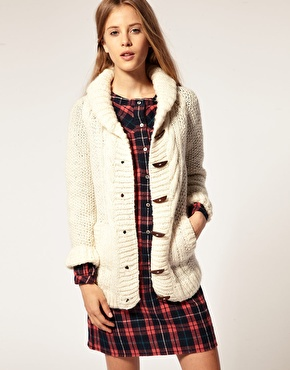people tree chunky cable knit cardi