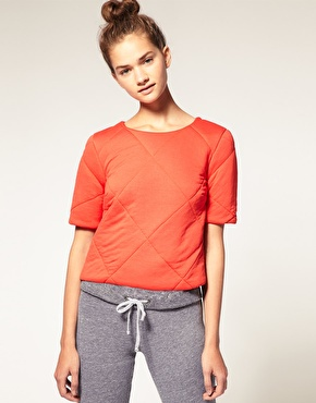 quilted jersey shell top Tuesday Treats   Textured Layers
