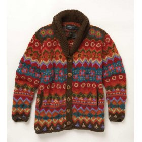 241481 ian snow patterned cardigan Tuesday Treats   Ethical Knitwear