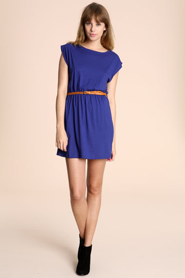 blue jersey dress 30 Days of Ethical Fashion   Sessun