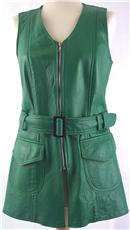 vintage green leather