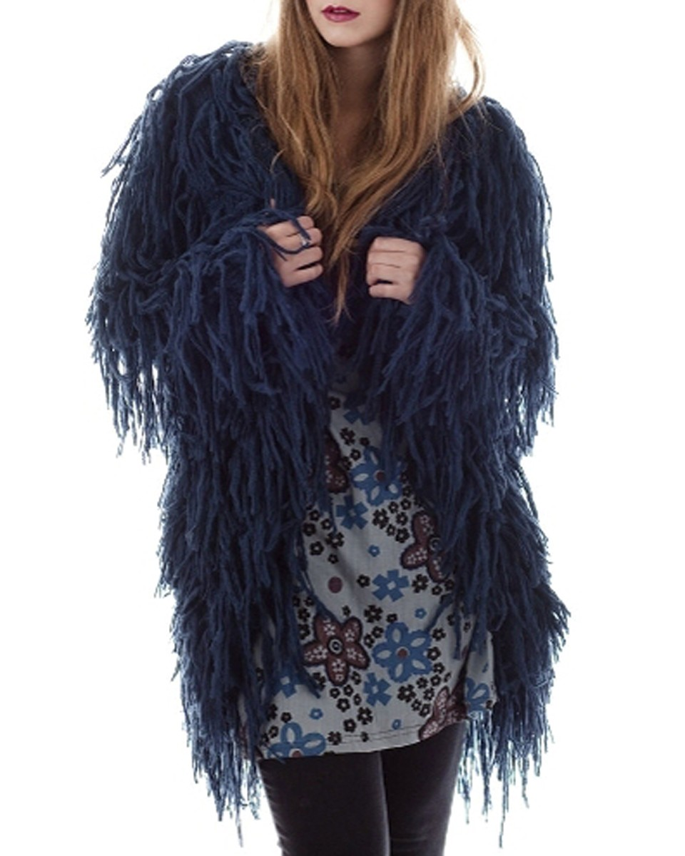 gringo fair trade shaggy wool cardigan coat ethical fashion 1 Tuesday Treats   Ethical Knitwear