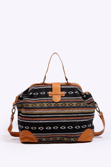 masaka trim leather holdall 30 Days of Ethical Fashion   Sessun