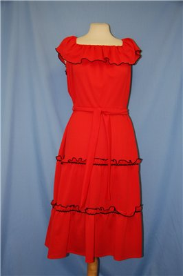 red tiered dress Tuesday Treats   Ethical Red Dresses