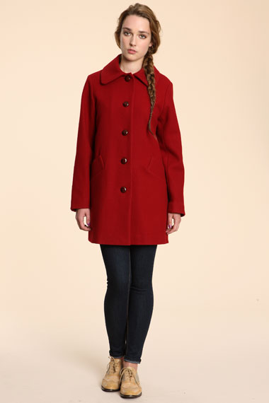 red wool coat 30 Days of Ethical Fashion   Sessun