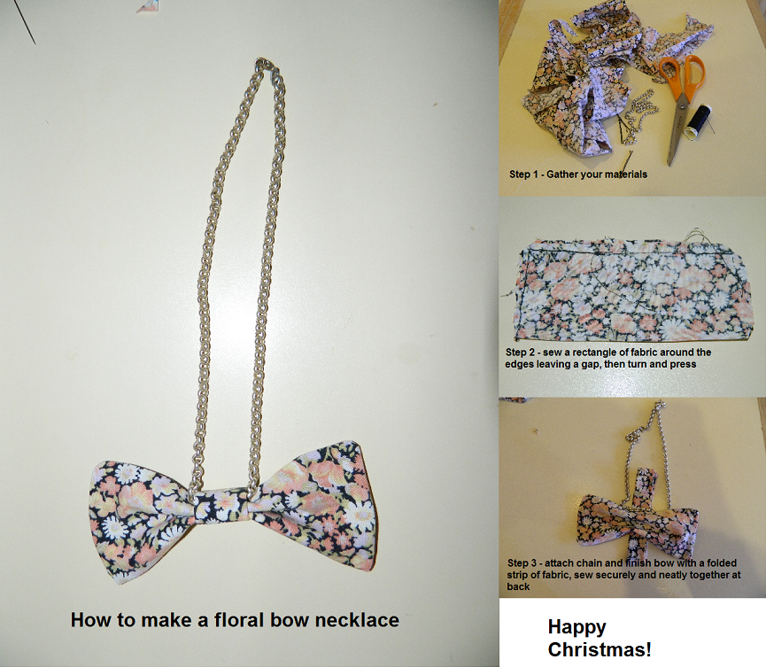 bow necklace diy DIY Christmas Present
