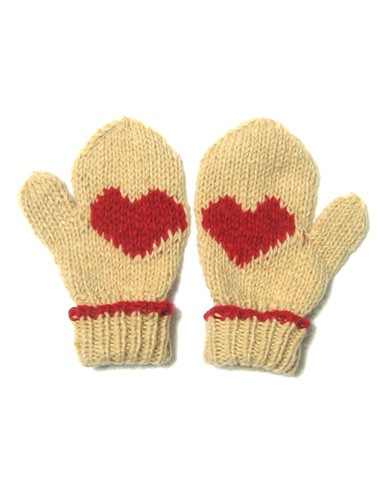 fair true fair trade knit heart mittens cream red 3 30 Days of Ethical Fashion   Fair + True