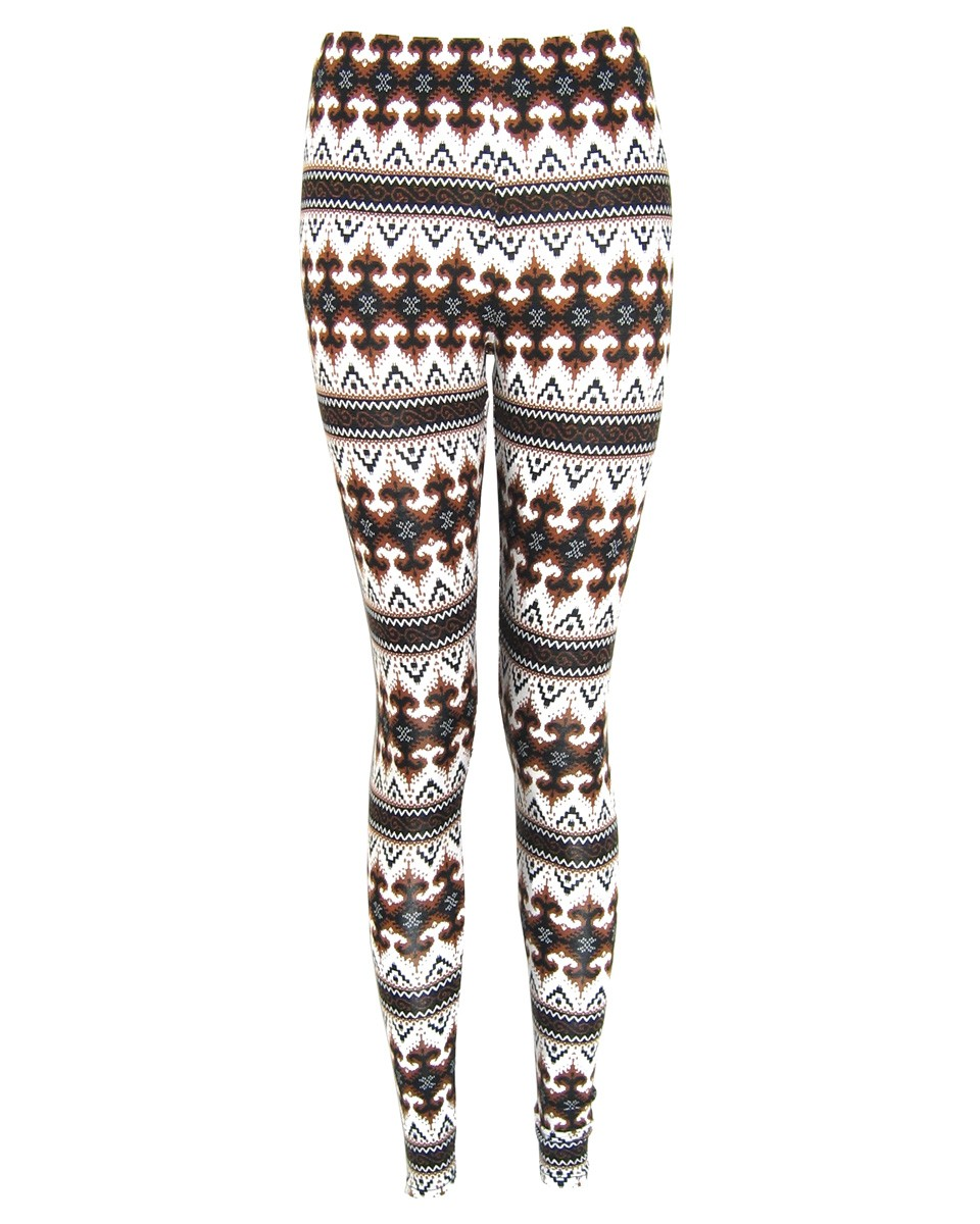 Sustainable nordic print patterned leggings