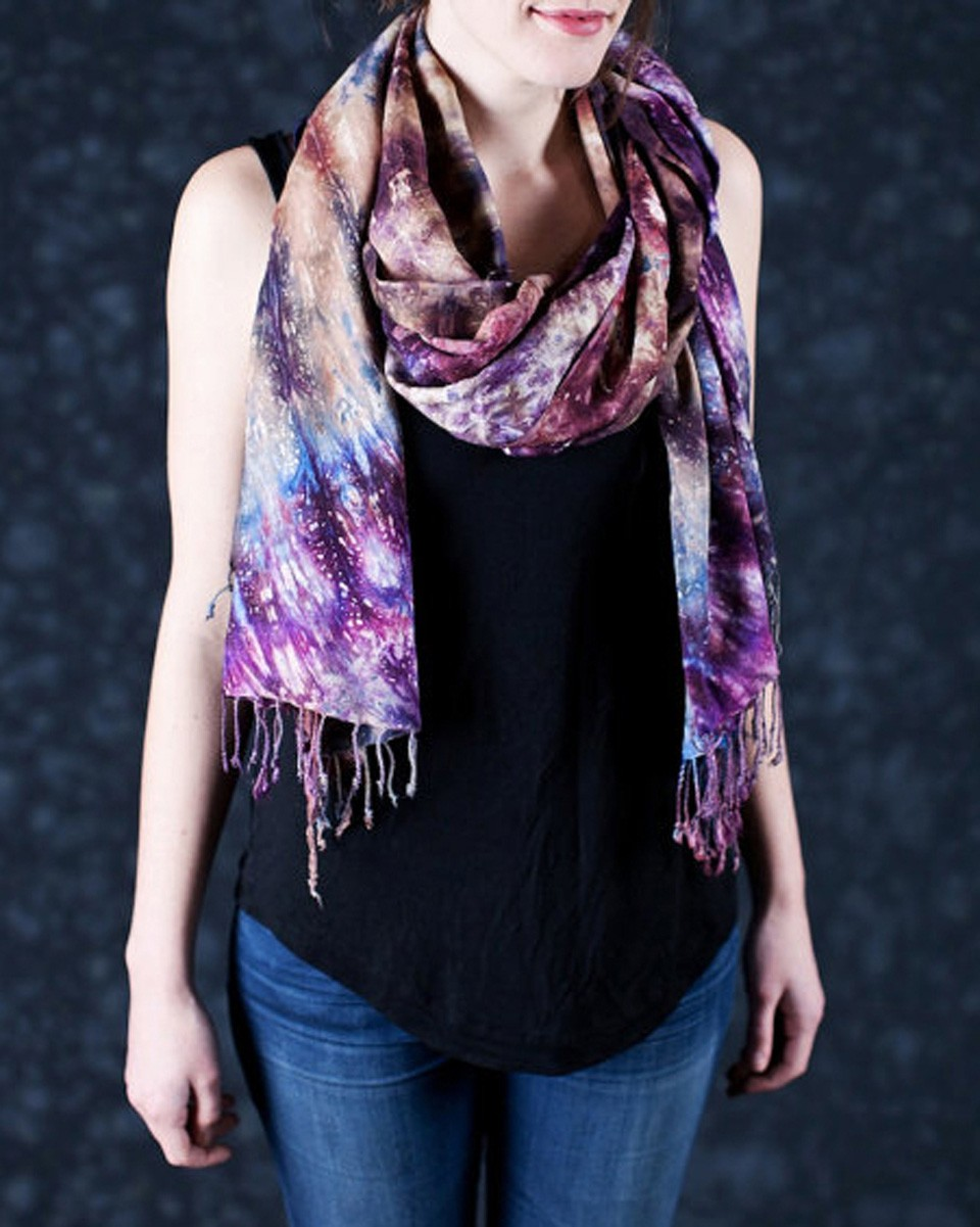 maisha collective fair trade takuma tie dye purple cotton scarf ethical fashion 1 30 Days of Ethical Fashion   Maisha Collective Fair Trade Scarves