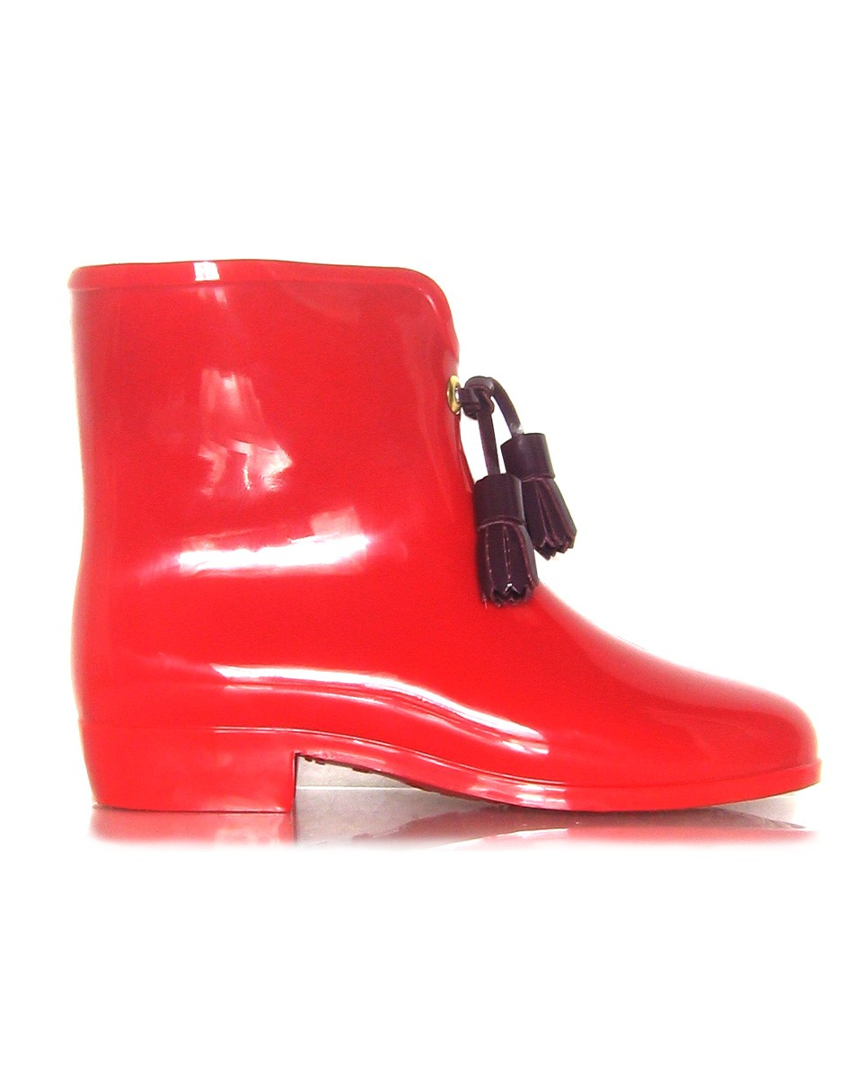 melissa vw vegan bootie with tassel red w 30 Days of Ethical Fashion   Melissa Shoes