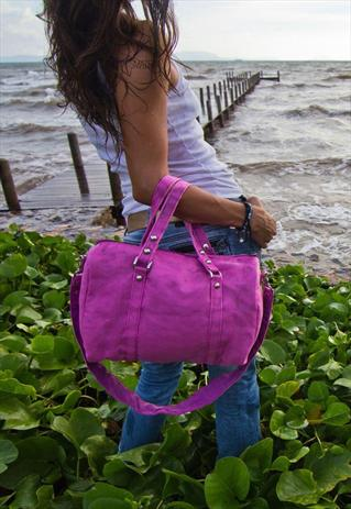 pink net bag 30 Days of Ethical Fashion   Happy Hands Bags