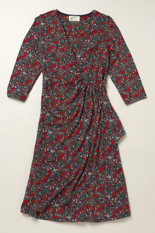 ruched wild flower dress 30 Days of Ethical Fashion   Braintree Hemp