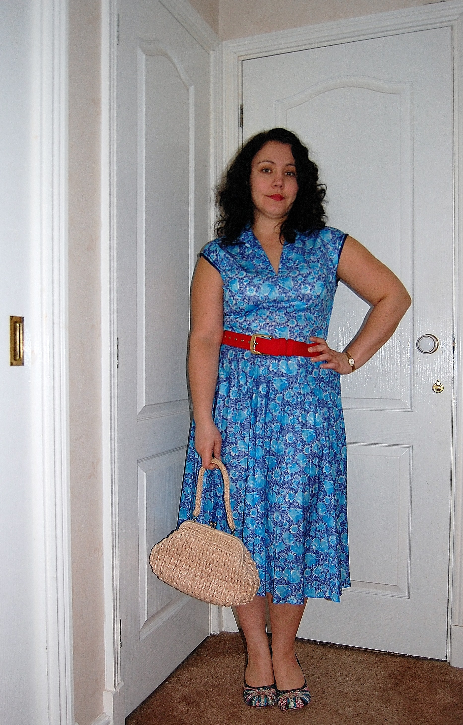 blue vintage dress Swap In The City