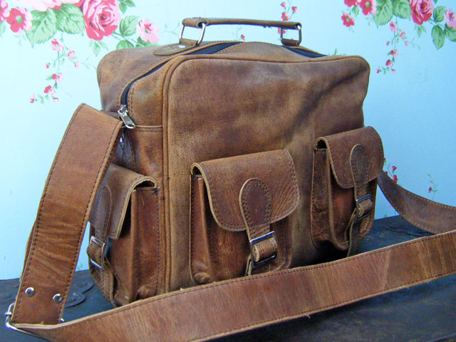 vintage flight bag 1 5 Scaramanga Vintage Style Satchels