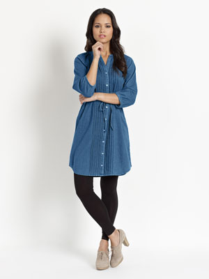 Monsoon Dress - Denim