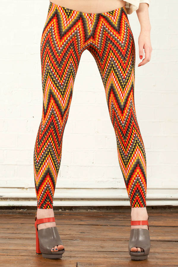 Aztec print ethical leggings
