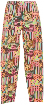 neon patterned vintage trousers