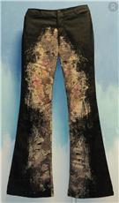 newspaper print Spring 2012   Patterned Trousers