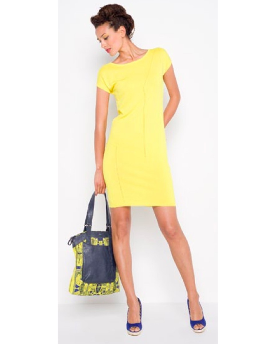 skunkfunk garat yellow sustainable dress SkunkFunk   A Collection That Endures Trends