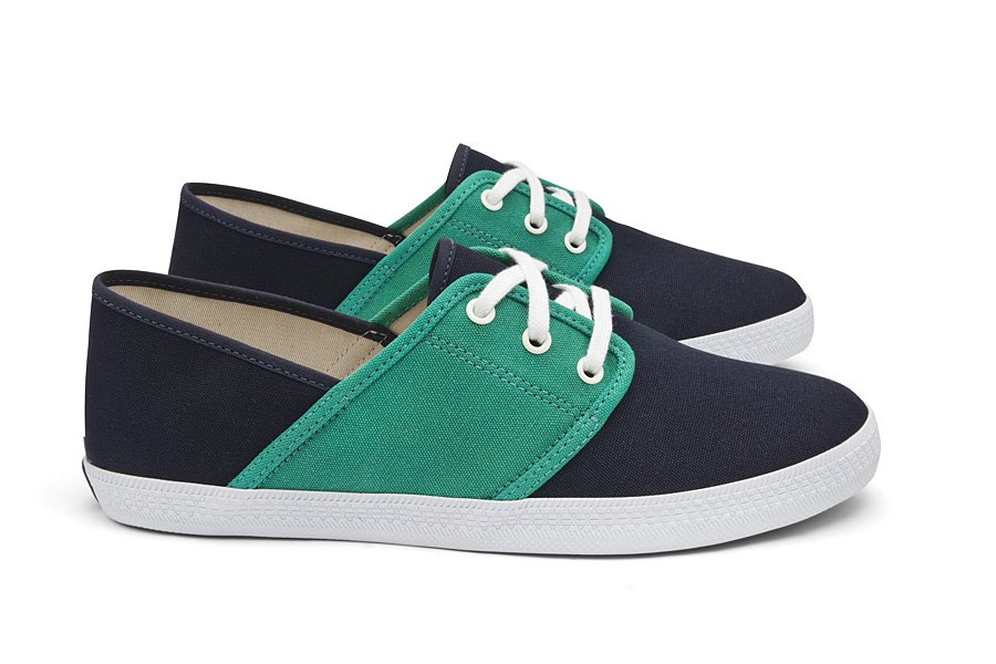 Veja Mediterran+®e Navy Emeraude Lateral Par Veja Ethical Shoes and the Observer Ethical Awards