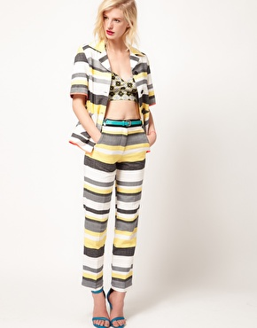 ASOS Africa striped trousers and jacket