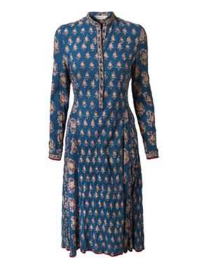 indigo rust crinkled dress Ethical Fashion Brands at House of Fraser