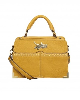 mustard yellow vegan handbag