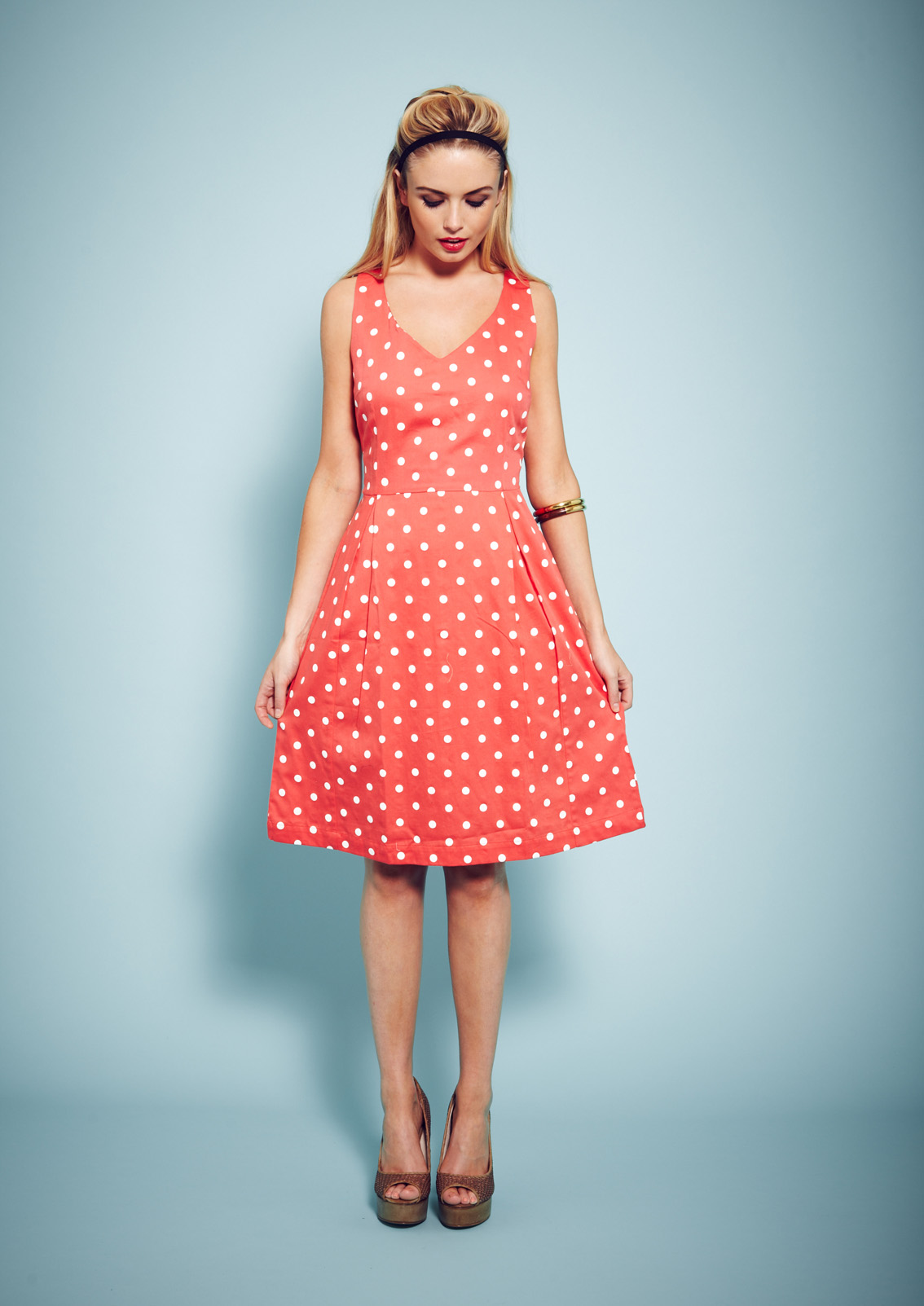 Polka dot fair trade dress - People Tree