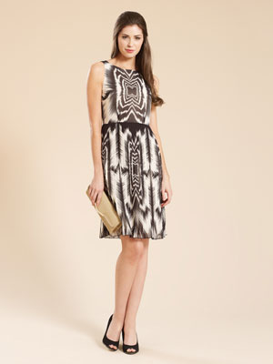 Monsoon Aztec print dress