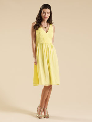 Monsoon Yellow Claire Dress