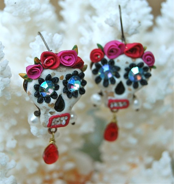 Day of the Dead inspired earrings