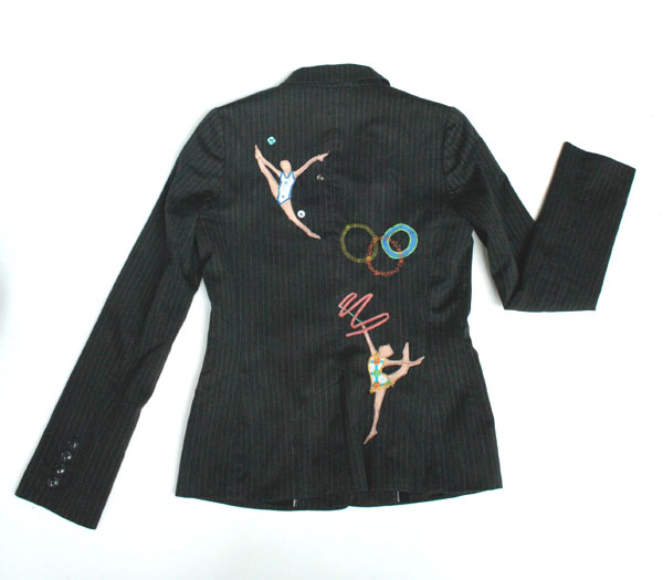 gymjacket2 Upcycled Fashion, Olympic Style by Queenie and Ted