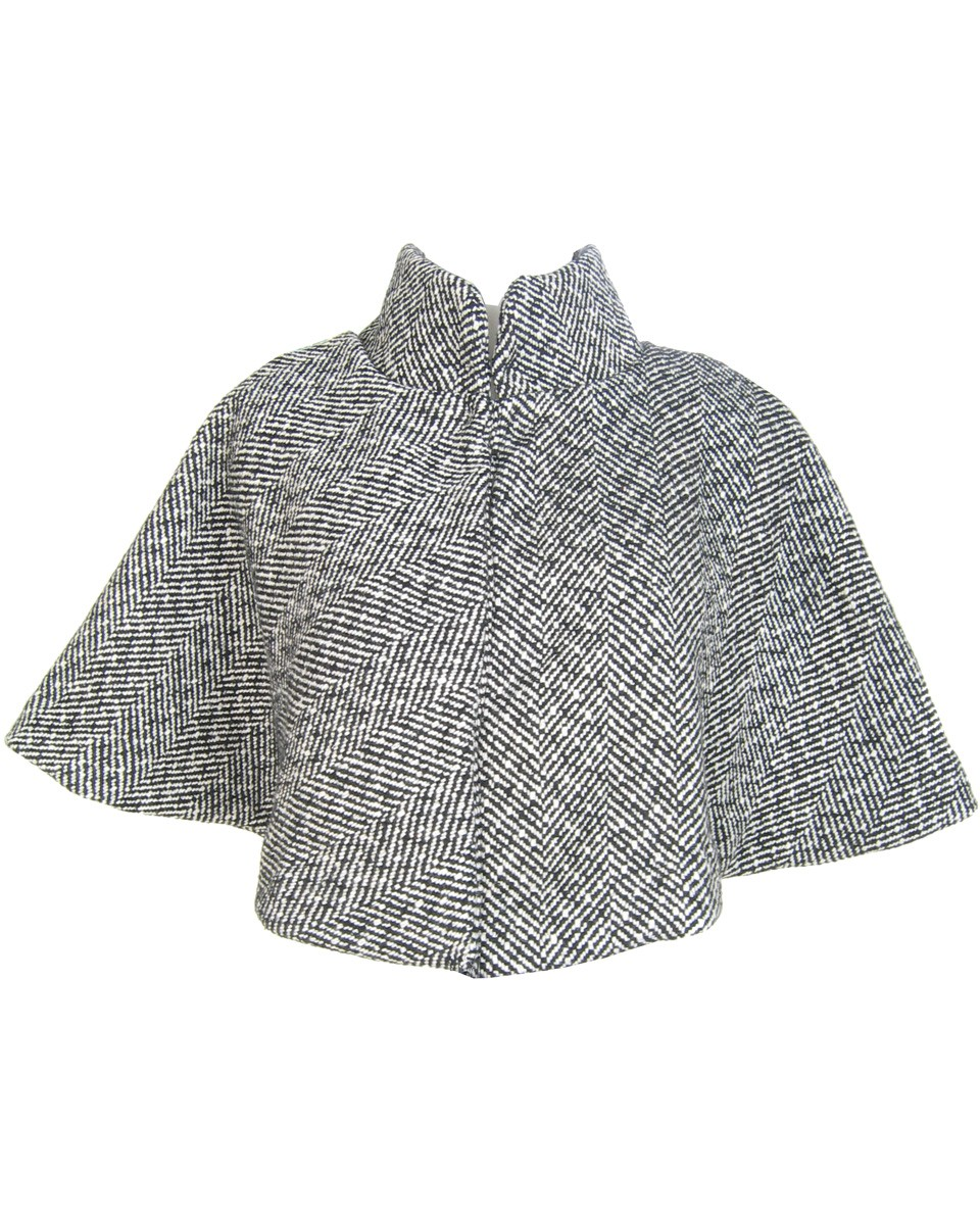 Recycled fashion - wool cape