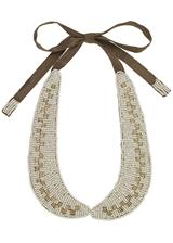 white beaded collar necklace