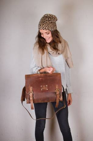 ethical leather satchel