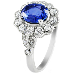 edwardian sapphire engagement ring Ethical Engagement Rings at Ingle and Rhode