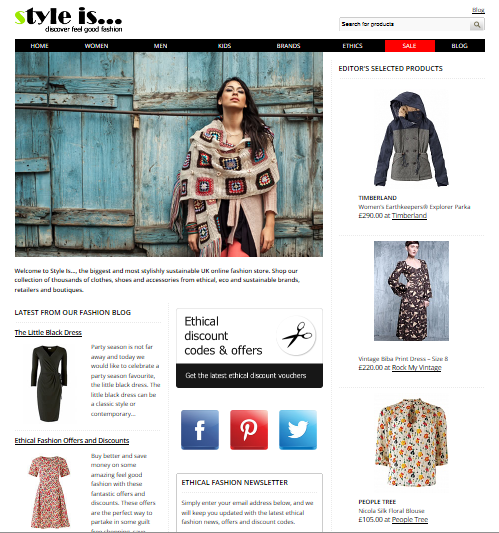 screenshot2 style is.co.uk launches   a search engine for sustainable style