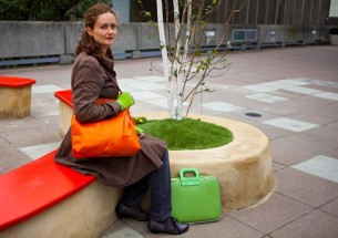 Bright colours orange leather bag green camberwell bag 2 305x215 Bright Colours