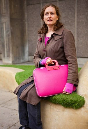 bright colours pink camberwell bag on grass portrait 305x450 Bright Colours