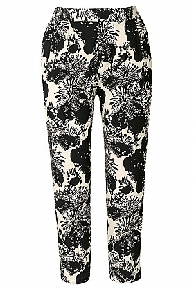 People Tree Flower print trousers