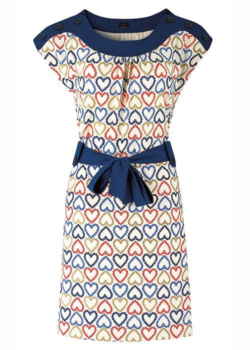 People Tree Orla Kiely Daisy Heart Dress
