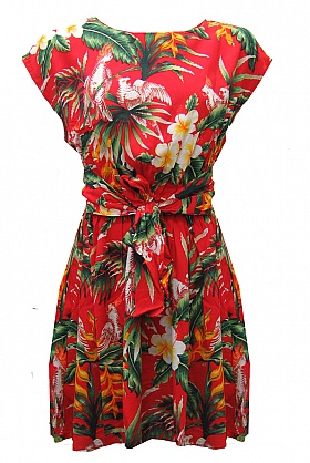 Ruby Rocks Tropical Floral Dress
