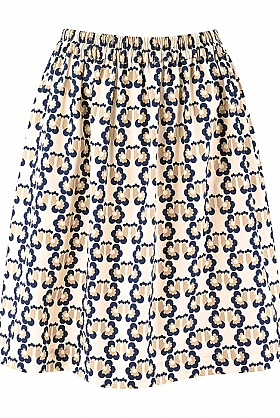 People Tree Orla Kiely Love Birds Print Skirt