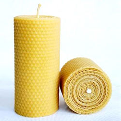 beeswax pillar candle Eco Living   Natural Wax Candles