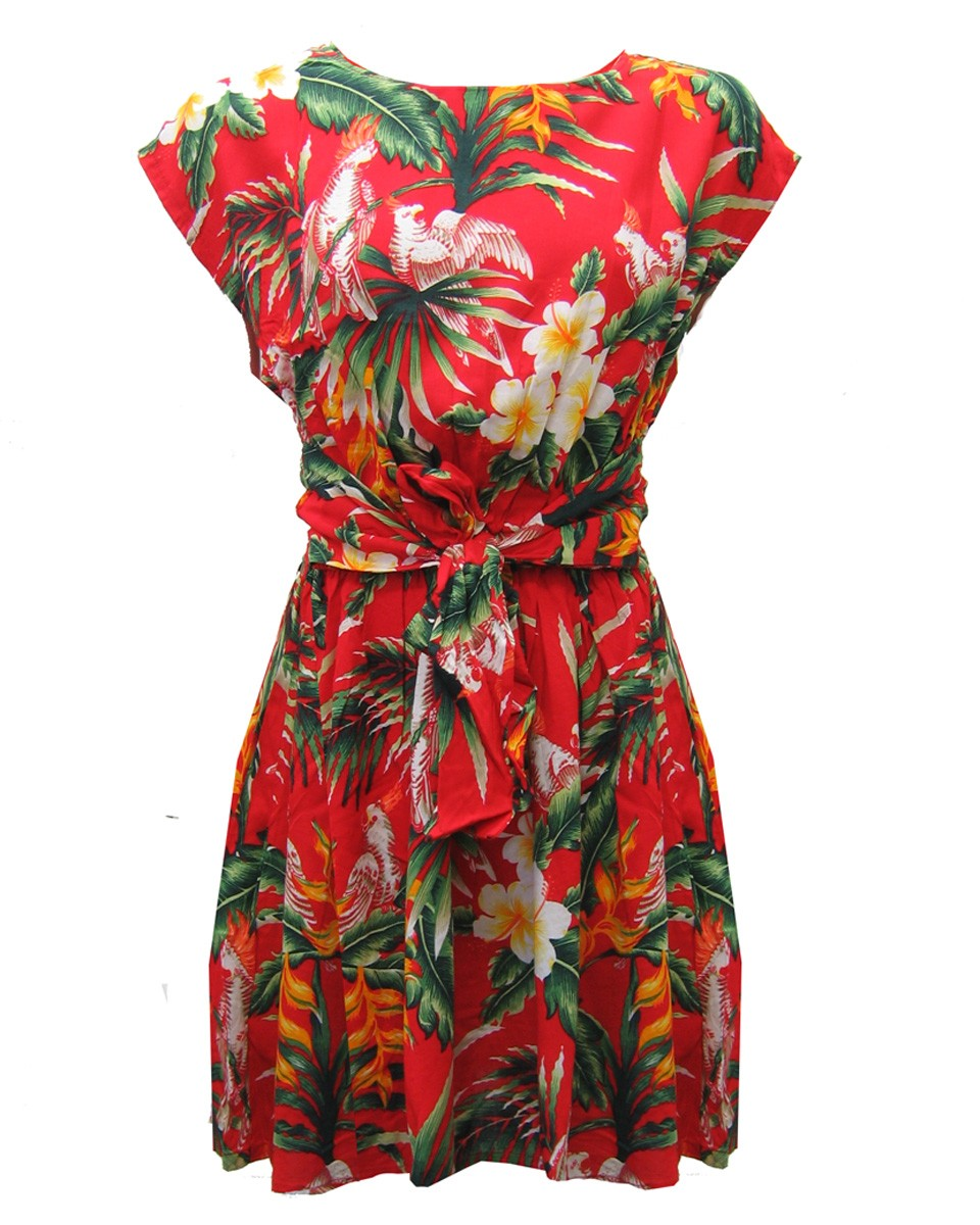 Ruby Rocks Tropical Print Dress