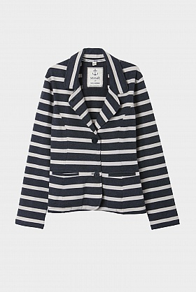 Seasalt Cornwall Striped Purser Jacket