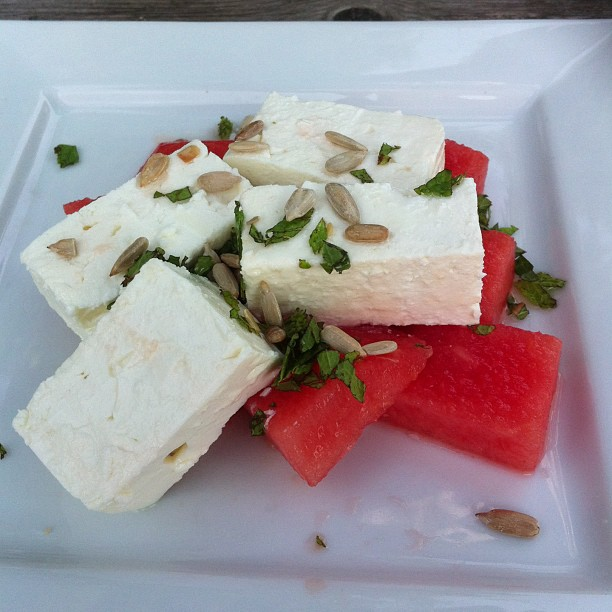 feta and watermelon salad A New Cardigan and Summer Instagrams