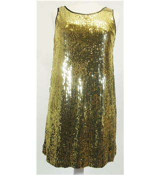 gold sequin Christmas Party Dress
